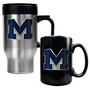 Stainless Steel Travel Mug & Ceramic Mug Set